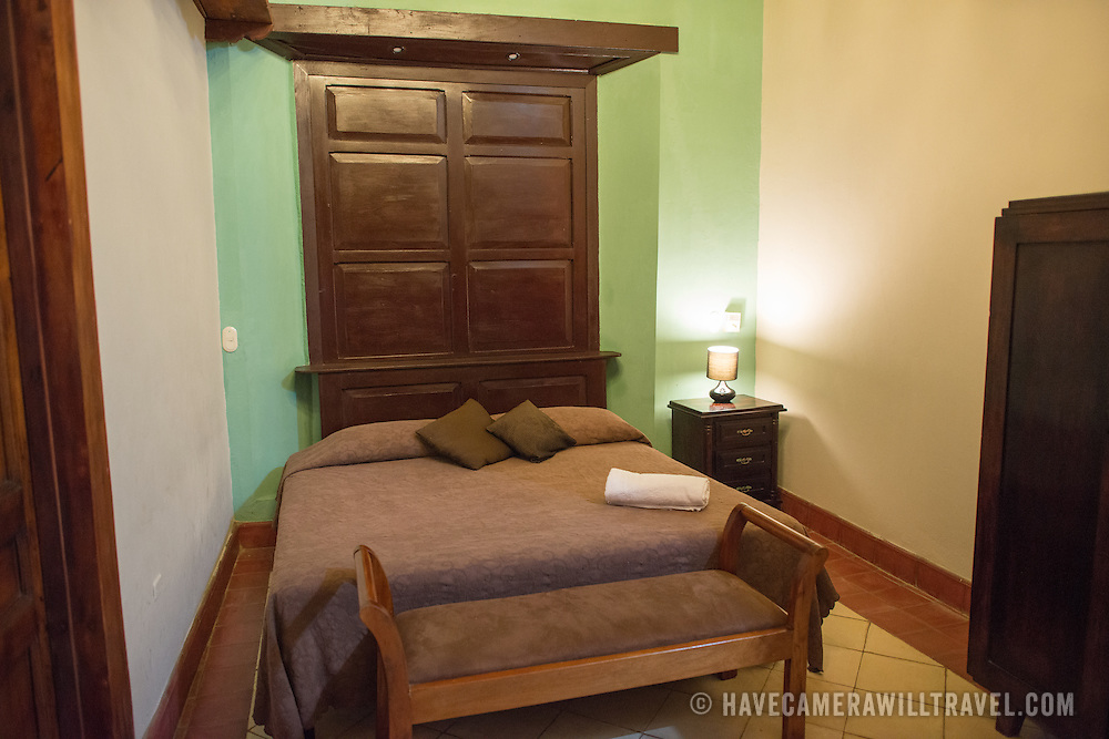 One of the rooms at Hotel Casa del Consulado, a boutique hotel in the heart of historic Granada, Nicaragua.