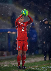 CESENA, ITALY - Tuesday, January 22, 2019: Wales' Loren Dykes takes a throw-in during the International Friendly between Italy and Wales at the Stadio Dino Manuzzi. (Pic by David Rawcliffe/Propaganda)
