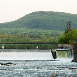 The Holyoke Dam on the Connecticut River in Holyoke, Massachusetts.