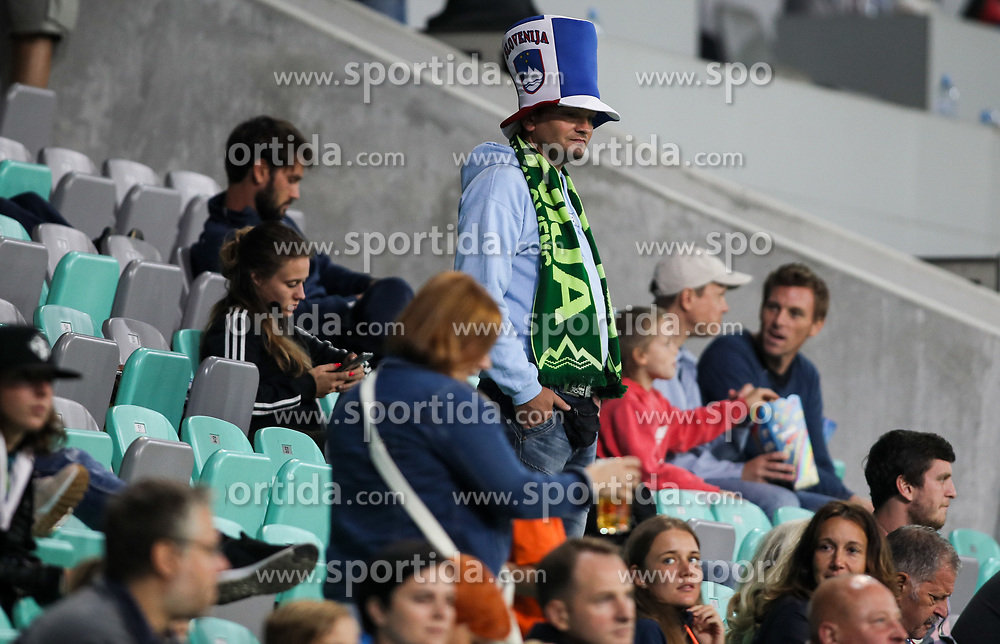 Supporters of Slovenia during football match between National Teams of Slovenia and Bulgaria in Final Tournament of UEFA Nations League 2019, on September 6, 2018 in SRC Stozice, Ljubljana, Slovenia. Photo by Morgan Kristan / Sportida
