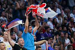 Supporters of Serbia during the Final basketball match between National Teams  Slovenia and Serbia at Day 18 of the FIBA EuroBasket 2017 at Sinan Erdem Dome in Istanbul, Turkey on September 17, 2017. Photo by Vid Ponikvar / Sportida