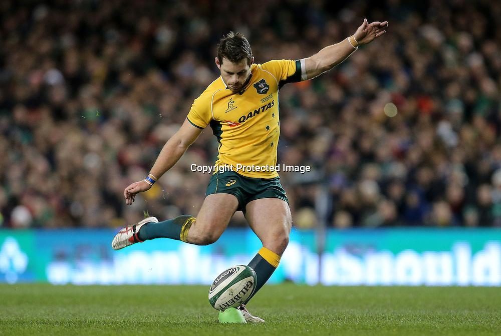 Guinness Series, Aviva Stadium, Dublin 22/11/2014<br /> Ireland vs Australia<br /> Bernard Foley of Australia<br /> Mandatory Credit &copy;INPHO/Ryan Byrne