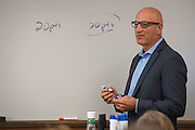 Tom Marchese teaches an honors class at the Ohio University College of Business in Copeland Hall on Tuesday, September 20, 2016.