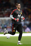 Kepa of Spain warms up before the International friendly game football match between Spain and Argentina on march 27, 2018 at Wanda Metropolitano Stadium in Madrid, Spain - Photo Rudy / Spain ProSportsImages / DPPI / ProSportsImages / DPPI