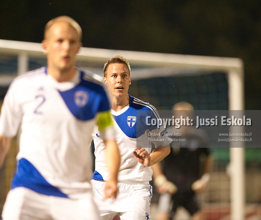 Niklas Moisander. San Marino - Suomi. A-maajoukkue. EM-karsintaottelu. Serravalle, San Marino 3.6.2011. Photo: Jussi Eskola
