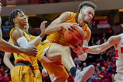 NORMAL, IL - February 05: Markus Golder during a college basketball game between the ISU Redbirds and the Valparaiso Crusaders on February 05 2019 at Redbird Arena in Normal, IL. (Photo by Alan Look)