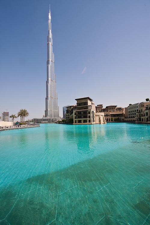 The Burj Khalifa, the world's tallest building in Dubai, United Arab Emirates.