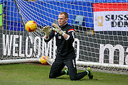 MK Dons goalkeeper Cody Cropper  during the Sky Bet Championship match between Bolton Wanderers and Milton Keynes Dons at the Macron Stadium, Bolton, England on 23 January 2016. Photo by Simon Davies.