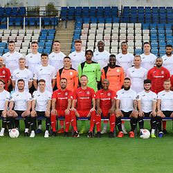 AFC Telford United pre-season photoshoot at the New Bucks Head Stadium on Thursday, August 1, 2019<br /> <br /> AFC Telford United first team photo<br /> <br /> Free for editorial use only<br /> Picture credit: Mike Sheridan/Ultrapress<br /> <br /> MS201920-004