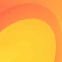 Abstract of a decorative glass resembling an orange arch