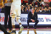 LUBBOCK, TX - MARCH 3: Head coach Jamie Dixon of the TCU Horned Frogs watches play from the sidelines during the game against the Texas Tech Red Raiders on March 3, 2018 at United Supermarket Arena in Lubbock, Texas. Texas Tech defeated TCU 79-75. Texas Tech defeated TCU 79-75. (Photo by John Weast/Getty Images) *** Local Caption *** Jamie Dixon