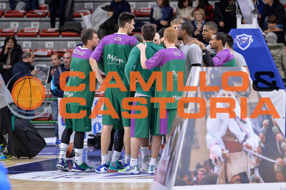 DESCRIZIONE : Eurolega Euroleague 2015/16 Gir.D Dinamo Banco di Sardegna Sassari - Unicaja Malaga<br /> GIOCATORE : Unicaja Malaga Team<br /> CATEGORIA : Before Pregame Fair Play<br /> SQUADRA : Unicaja Malaga<br /> EVENTO : Eurolega Euroleague 2015/2016<br /> GARA : Dinamo Banco di Sardegna Sassari - Unicaja Malaga<br /> DATA : 10/12/2015<br /> SPORT : Pallacanestro <br /> AUTORE : Agenzia Ciamillo-Castoria/L.Canu