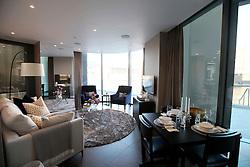 UK ENGLAND LONDON 20APR15 - Show apartment from Lexicon Building developed by Mount Anvil in London EC1.<br /> <br /> jre/Photo by Jiri Rezac<br /> <br /> © Jiri Rezac 2015