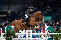 Delestre Simon, FRA, Uccello de Will<br /> Stuttgart - German Masters 2018<br /> © Hippo Foto - Stefan Lafrentz
