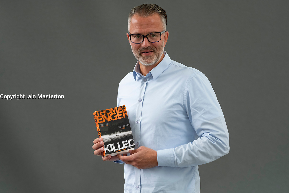 "Edinburgh, Scotland, UK; 17 August, 2018. Pictured; Crime writer Thomas Engers from Norway with new book ""Killed"" which is the finale of his ""Henning Juul"" series."