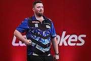 Luke Humphries celebrates his win over Vincent van der Voort during the Ladrokes UK Open 2019 at Butlins Minehead, Minehead, United Kingdom on 1 March 2019.