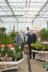 Pictured is Clydesdale and Yorkshire Bank's commercial relationship manager Michael Pickles, left, with Pennells Garden Centre chairman Richard Pennell in the all-weather plant area which is part of the expansion which the bank helped finance.<br /> <br /> Clydesdale and Yorkshire Bank have helped Pennells Garden Centre finance a large expansion at their venue in South Hykeham, near Lincoln.<br /> <br /> Date: December 15, 2015<br /> Picture: Chris Vaughan/Chris Vaughan Photography