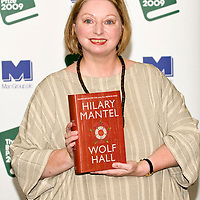 LONDON, ENGLAND - OCTOBER 05: Man Booker Prize shortlisted author Hilary Mantel poses with her book Wolf Hall at Hatchards in Piccadilly, ahead of the Man Booker Prize 2009 on October 5, 2009 in London, England....***Agreed Fee's Apply To All Image Use***.Marco Secchi /Xianpix. tel +44 (0) 771 7298571. e-mail ms@msecchi.com .www.marcosecchi.com