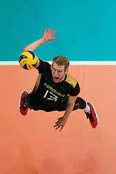 23-09-2019 NED: EC Volleyball 2019 Poland - Germany, Apeldoorn<br /> 1/4 final EC Volleyball Poland win 3-0 / Simon Hirsch #13 of Germany