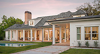 Sunset falls on this custom luxury home in Safety Harbor, Florida. I was hired to produce architectural photography of the home's interior and exterior for an interiors product vendor.
