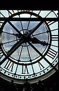 The big clock in the museum of Orsay in Paris, France