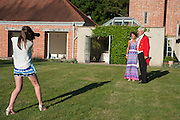 DAISY BEOR-ROBERTS; ATTY BEOR-ROBERTS; CECILIA BEOR-ROBERTS, Richard Taylor's 69th birthday party.  Whithurst Park. West Sussex.  3 August 2013