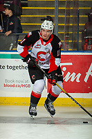KELOWNA, BC - NOVEMBER 1: Josh Maser #11 of the Prince George Cougars warms up on the ice against the Kelowna Rockets at Prospera Place on November 1, 2019 in Kelowna, Canada. (Photo by Marissa Baecker/Shoot the Breeze)