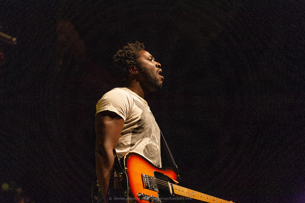 "Kele Okereke of Bloc Party performs on January 22, 2013 in support of ""Four"" at the Ogden Theater in Denver, Colorado"