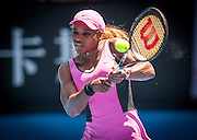 Serena Williams (USA) defeated D. Hantuchova (SVK) 6-3, 6-3 in the third round of the 2014 Australian Open. Extreme heat warnings were in effect as the tournament moved into its fifth day in Melbourne. Serena Williams at play in the Australian Open in Melbourne, Victoria, Australia