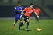 Brighton & Hove Albion striker Richie Towell (29) during the EFL Trophy match between AFC Wimbledon and U23 Brighton and Hove Albion at the Cherry Red Records Stadium, Kingston, England on 6 December 2016.
