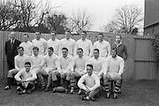 31/1/1962<br /> 1/31/1962<br /> 31/january/1962<br /> International Rugby Trials Blues v Whites. Back Row: D.Hewitt, (Instonians); M.g.Culliton, (Wanderers); L.P.F. L'Estrange, (TCD);  C.J. Dick (Ballymena); P.J. O'Sullivan, (Galwegians); D. Scott, (Malone); Seated: R.J. McLoughlin, (UCD); M.K. Flynn, (Wanderers); N.H. Brophy, (Blackrock); W.A. Mulcahy, (Bohemians); A.R. Dawson, (Wanderers); T.J. Kiernan, (UCC); S. Millar (Ballymena); Front: W.G. Tormey, (UCD); J.T.M. Quirke, (Blackrock);