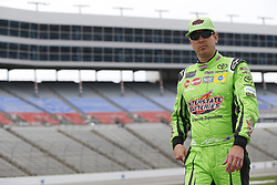 April 6, 2018 - Ft. Worth, Texas, United States of America - April 06, 2018 - Ft. Worth, Texas, USA: Kyle Busch (18) waits to qualify for the O'Reilly Auto Parts 500 at Texas Motor Speedway in Ft. Worth, Texas. (Credit Image: © Stephen A. Arce Asp Inc/ASP via ZUMA Wire)