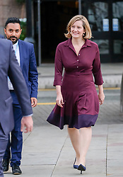(c) Licensed to London News Pictures. <br /> 03/10/2017<br /> Manchester, UK<br /> <br /> Home Secretary, Amber Rudd walks from the Midland Hotel at the start of day three at the Conservative Party Conference held at the Manchester Central Convention Complex.<br /> <br /> Photo Credit: Ian Forsyth/LNP