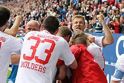 27.04.2013, SGL Arena, Augsburg, GER, 1. FBL, FC Augsburg vs VfB Stuttgart, 31. Runde, im Bild Torjubel von Ragnar KLAVAN #5 (FC Augsburg) // during the German Bundesliga 31 th round match between FC Augsburg and VfB Stuttgart at the SGL Arena, Augsburg, Germany on 2013/04/27. EXPA Pictures © 2013, PhotoCredit: EXPA/ Eibner/ Kolbert..***** ATTENTION - OUT OF GER *****