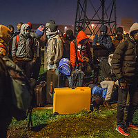 Migrants from different country leaves The Jungle of calais in france on 24th October 2016.