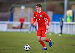 BANGOR, WALES - Saturday, November 17, 2018: Wales' Morgan Boyes during the UEFA Under-19 Championship 2019 Qualifying Group 4 match between Sweden and Wales at the Nantporth Stadium. (Pic by Paul Greenwood/Propaganda)