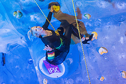 Natalija Gros during friendly competition of Slovenian climbing legends during 10th PDK on November 29, 2015 in Kranj, Slovenia. (Photo By Grega Valancic / Sportida)