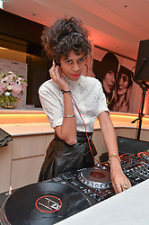 ALUNA FRANCIS at a dinner to celebrate the exclusive Capsule collection: Maison Michel by Karl Lagerfeld held at Selfridges, 400 Oxford Street, London on 23rd February 2015.