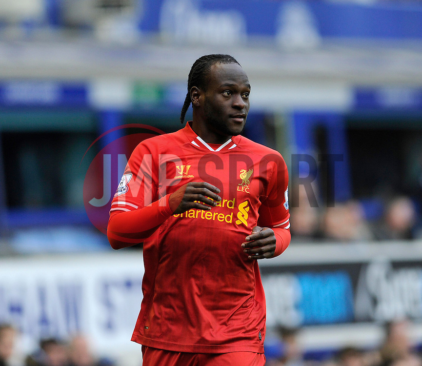 Liverpool's Victor Moses - Photo mandatory by-line: Dougie Allward/JMP - Tel: Mobile: 07966 386802 23/11/2013 - SPORT - Football - Liverpool - Merseyside derby - Goodison Park - Everton v Liverpool - Barclays Premier League