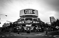 Bleachers entrance. Wrigley Field is a baseball park located on the North Side of Chicago, Illinois. It is the home of the Chicago Cubs, one of the city's two Major League Baseball (MLB) franchises.