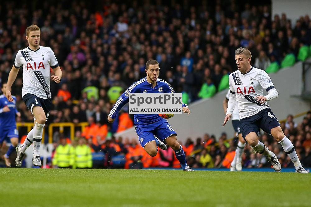 Toby Alderweireld, Eden Hazard During Tottenham Hotspur vs Chelsea on Sunday the 29th November 2015.