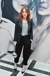 ANGELA SCANLON at a dinner to celebrate the exclusive Capsule collection: Maison Michel by Karl Lagerfeld held at Selfridges, 400 Oxford Street, London on 23rd February 2015.