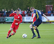 Dundee's Paul McGowan and Brechin's Gary Fusco - Brechin City v Dundee, pre-season friendly at Dens Park<br /> <br />  - &copy; David Young - www.davidyoungphoto.co.uk - email: davidyoungphoto@gmail.com