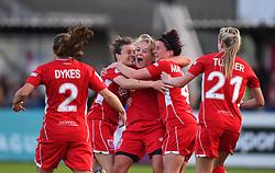 Lily Agg of Bristol City Women celebrates her equaliser - Mandatory by-line: Paul Knight/JMP - 20/05/2017 - FOOTBALL - Stoke Gifford Stadium - Bristol, England - Bristol City Women v Liverpool Ladies - FA Women's Super League Spring Series