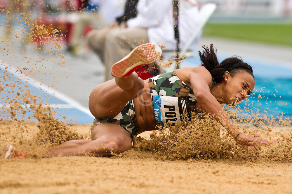 adidas Grand Prix Diamond League professional track & field meet: womens long jump, Tori POLK, USA