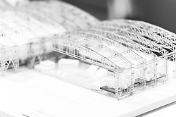 A general view of models of the potential layout for the YTL Arena on display at the YTL Developments office - Ryan Hiscott/JMP - 29/01/2019 - COMMERCIAL - YTL Developments - Bristol, England - YTL Arena Development at the Brabazon Hangar