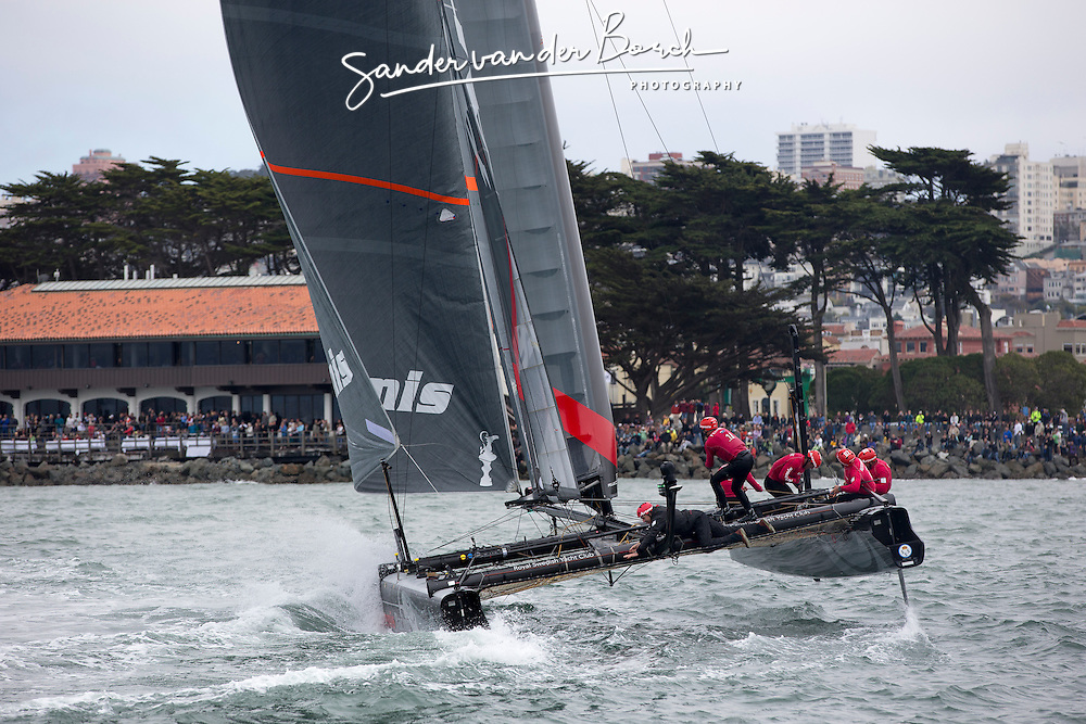 Two fleet races, Saterday August 25th, 2012, AC45 World Series San Francisco.