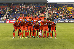 March 1, 2018 - Harrison, New Jersey, United States - Players of CD Olimpia of Honduras pose before 2018 CONCACAF Champions League round of 16 game against New York Red Bulls at Red Bull arena, Red Bulls won 2 - 0 (Credit Image: © Lev Radin/Pacific Press via ZUMA Wire)