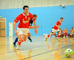 Bristol City Futsal take control of possession.- Photo mandatory by-line: Nizaam Jones - Mobile: 07583 387221 - 02/11/2014 - SPORT - Futsal - Gloucester - Gloucester University - v BCFC Futsal- Sport