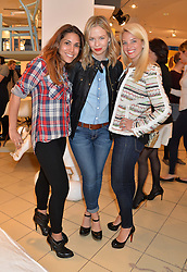 Left to right, LILY HODGES, MARISSA HERMER and CHRISTY OSBORNE at the launch of A Season In France hosted by Jasper Conran at The Conran Shop, 81 Fulham Road, London on 1st May 2014.